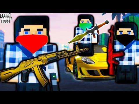 #3 КВАДРАТНЫЙ ГТА 5 видео для детей про разборки в стиле гта про машинки и тачки в игре Block Warrio