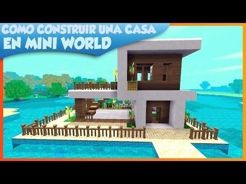 COMO HACER UNA CASA!!! / Modern house mini world block art survival