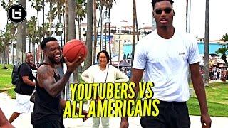 YouTubers vs All Americans! 😂 CashNasty, Mal & TDPresents vs B.McCoy, Ira Lee & Savion!