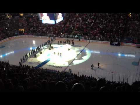 Mats Sundin banner raising ceremony *HD*