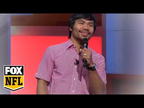 Manny Pacquiao sings touching tribute to the NFL | America's Pregame