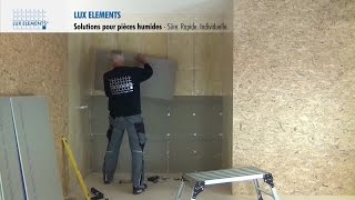 LUX ELEMENTS Montage :  Solutions pour pièces humides – Wall Sets (l