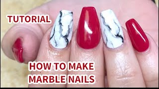 HOW TO MAKE MARBLE NAILS / TUTORIAL