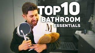 TOP 10 Men's Bathroom Essentials EVERY Guy Needs! (BADASS Bathroom)