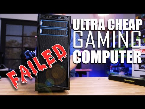 The Ultimate CHEAP PC Gaming Setup.... that FAILED