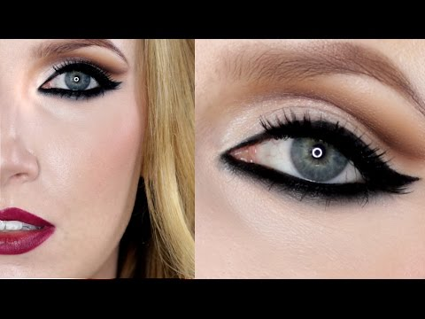 Vampy Lips, Cat Liner & Soft Cut Crease - Rihanna Inspired Makeup Tutorial