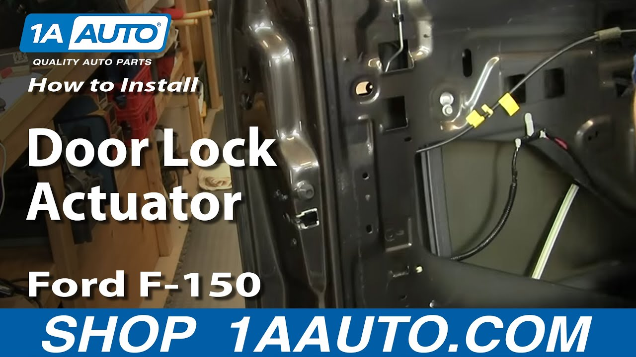 install replace door lock actuator ford