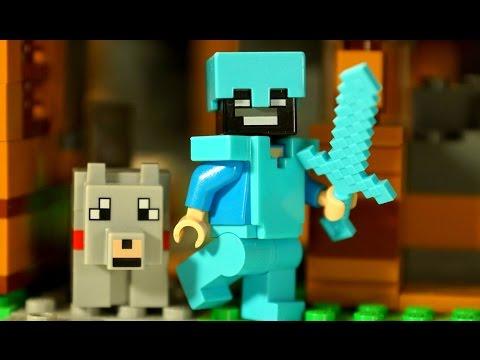 Мультфильм Майнкрафт 11-я серия Лего Мультики - Lego Minecraft Stop Motion Animation