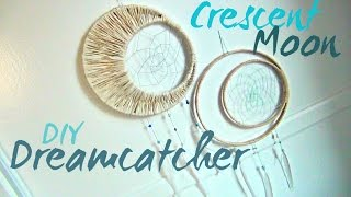 Crescent Moon Dreamcatcher ♥ DIY