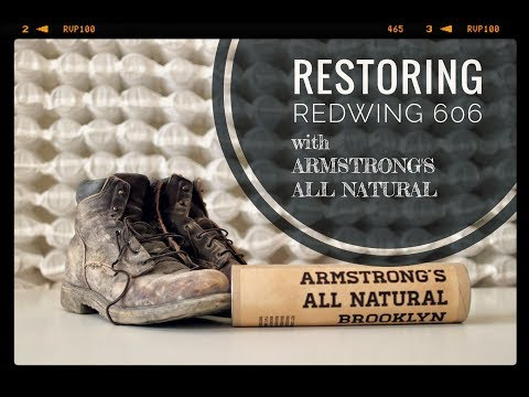 BOOT RESTORATION of REDWING 606 w/ Armstrongs All Natural Shoe Care Kit [ The Boot Guy Reviews ]