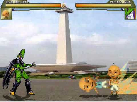 Upin & Ipin vs Cell Dragon Ball Z (Game : MUGEN training Mode)