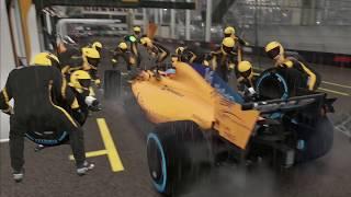F1 2018 20 Lap Race Replay Monaco Rain in McLaren Renault