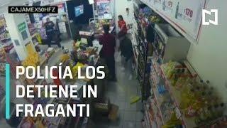Policía frustra asalto a tienda de conveniencia en CDMX - Las Noticias con Danielle