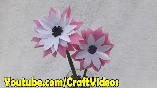 How to make Paper Flowers | Paper Flower making step by step