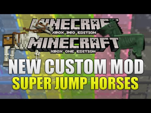 Minecraft Xbox 360: NEW! Modded Map | Telescope Mod Super Jump Horses Mod & MORE! [NEW]