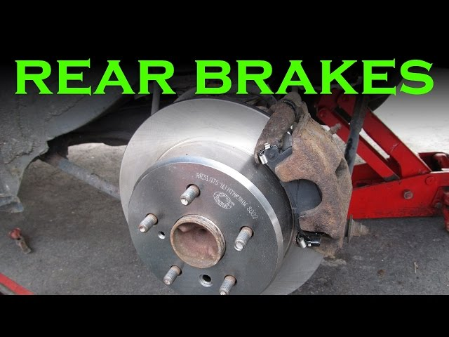 Toyota Rear Brake Pad and Rotor Change - YouTube