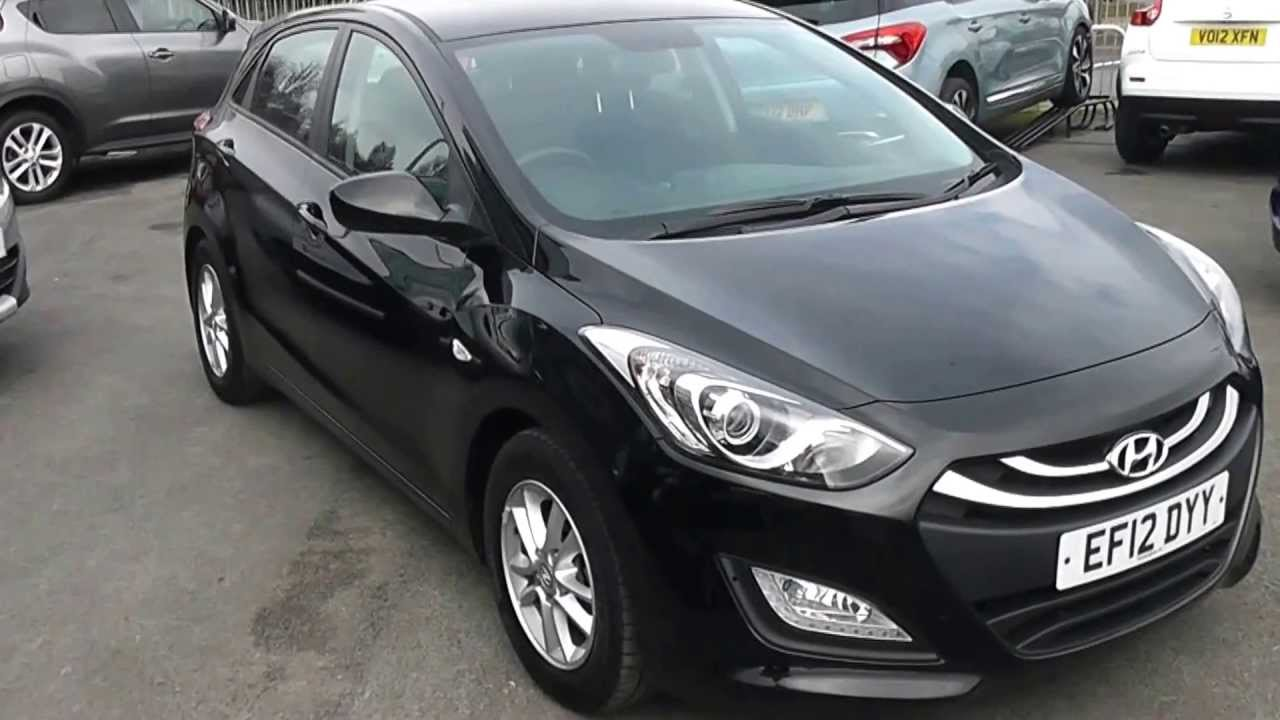 Ef12dyy Hyundai I30 Active In Black At Wessex Garages