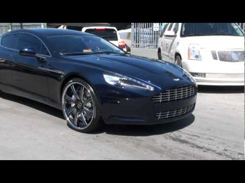 Hanley Ramirez of the Florida Marlins got new shoes on his Aston Martin Rapide...