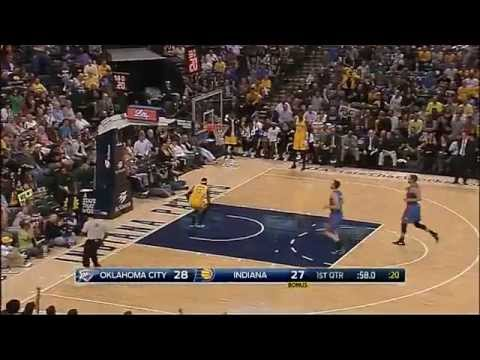 Paul George's first slam dunk after broken leg injury! (04.12.2015)