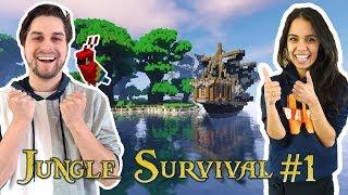 JUNGLE SURVIVAL MET ROLE PLAY #1! - MINECRAFT
