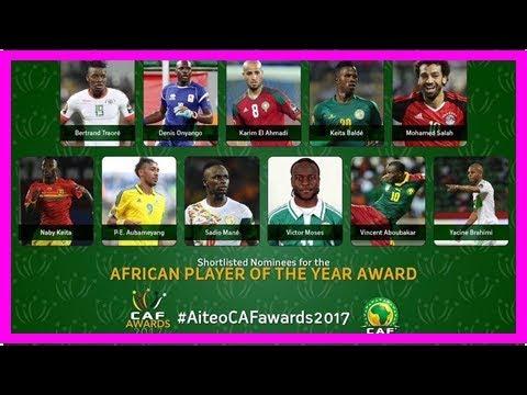 非洲足球先生11人名單出爐:薩拉赫奧巴梅楊領銜