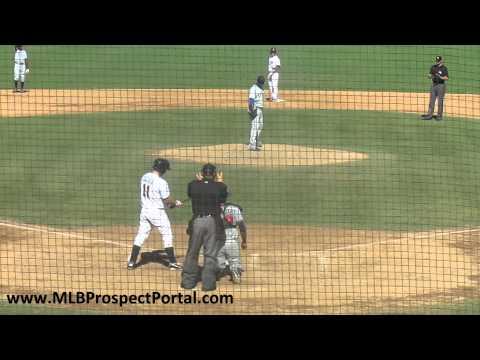Rangers LHP Miguel De Los Santos vs. Twins SS Brian Dozier - Arizona Fall League 2011