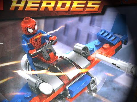 Let's Build - LEGO MARVEL SUPERHEROES SPIDER-GLIDER SPIDER-MAN Polybag
