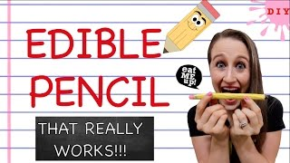 How To Make An Edible Pencil That Really Works - Edible School Supplies