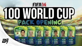 WORLD CUP PACK OPENING! w/ EPIC PULLS!!! | FIFA 14 Ultimate Team