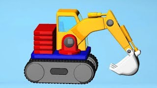 Build and Play 3D - Cars and Trucks Cartoons for children
