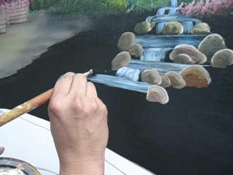 Dante pintando piedras en un puente youtube for Tecnica para pintar piedras