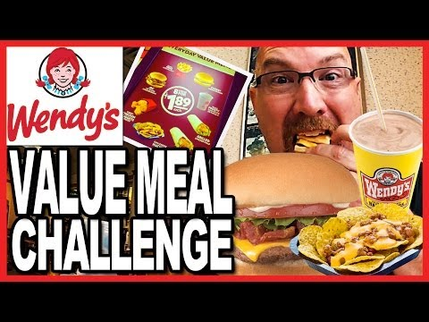 Wendy's ♥ Value Meal Challenge 3200 CALORIES in one sitting! OMG!