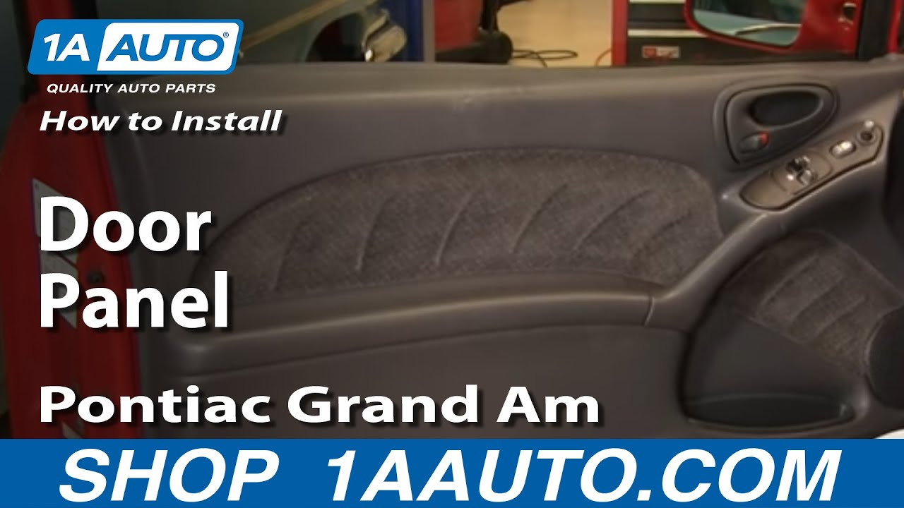 How to install replace door panel pontiac grand am 99 06 for 2001 grand am window regulator