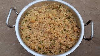 Fresh Aloo Matar Pulao Simple Village Style Recipe  | MY Village Food Secrets