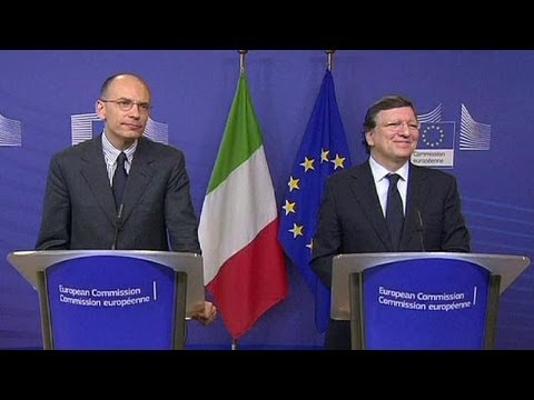 Italian PM Letta calls for growth policy in Brussels