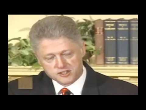 President Bill Clinton Denies Sexual Relations with Monica Lewinsky