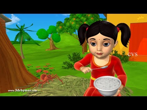 Little Miss Muffet - 3d Animation English Nursery Rhyme For Children With Lyrics video