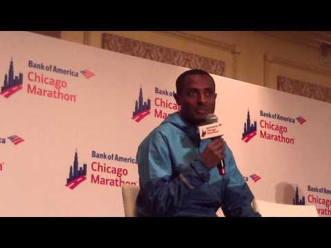 Kenenisa Bekele After the 2014 Bank of America Chicago Marathon
