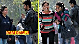 "Saying Cute Girls ""Ram Ram Ji"" Prank | AVRprankTV | Pranks in India"