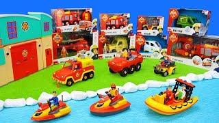 Fireman Sam Toys Unboxing for Kids: Fire Trucks, Firestation & Firefighter Playsets