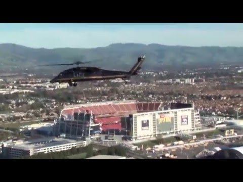 CBP Super Bowl 50 Airspace Security B-Roll & Interview
