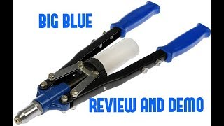 Harbor Freight Pittsburgh Heavy Duty Hand Riveter Review and Demo ( 66422 )
