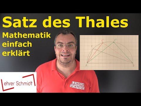 Satz des Thales   Mathematik - einfach erklärt   Lehrerschmidt