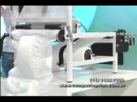 Compacta print maquina de salgados