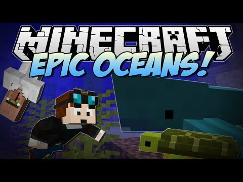 Minecraft EPIC OCEANS Cannibals Sharks Turtles and More Mod Showcase NEW