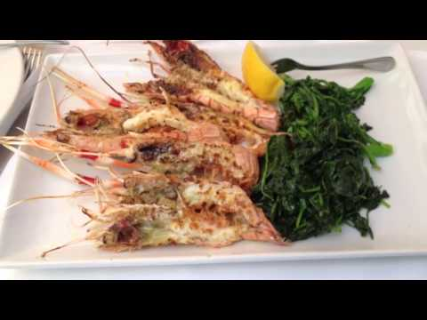 One of my favorite lunches, fresh grilled langoustine with rapini & spinach YUM!