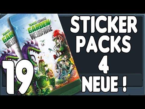 4 neue Figuren ! Plants vs Zombies Garden Warfare Sticker Packs Opening Part 19 (Deutsch German)