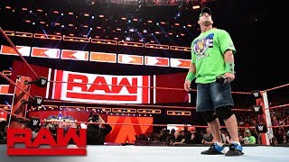 The Undertaker does not respond to John Cena Raw April 2 2018