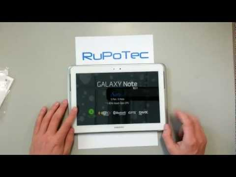 Unboxing and Review of the new Samsung Galaxy Note 10.1 with Wi-Fi. 3G. 16GB. Android