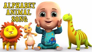 Alphabet Animal Song - ABC Song for Kids - Nursery Rhymes from Jugnu kids
